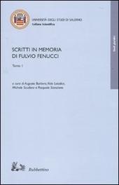 Scritti in memoria di Fulvio Fenucci