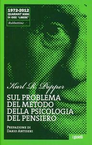 Sul problema del metodo della psicologia del pensiero