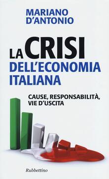 Camfeed.it La crisi dell'economia italiana. Cause, responsabilità, vie d'uscita Image