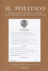 Il politico. Rivista italiana di scienze politiche (2015). Vol. 238