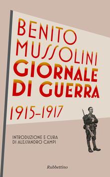 Giornale di guerra 1915-1917 - Benito Mussolini - copertina