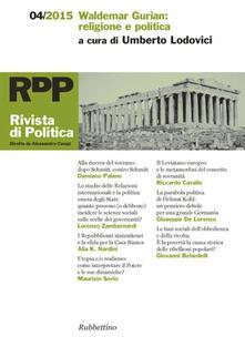 Capturtokyoedition.it Rivista di politica (2015). Vol. 4: Waldemar Gurian: religione e politica. Image
