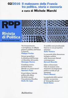 Rivista di politica (2016). Vol. 2: Il malessere della Francia tra politica, storia e memoria..pdf