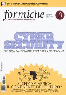 Criticalwinenotav.it Formiche (2016). Vol. 116: Cyber security. Che cosa cambierà in Europa con la direttiva Nis. Image