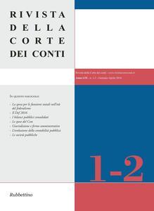 Rivista della Corte dei Conti (2016). Vol. 1-2