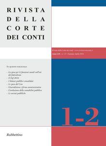 Foto Cover di Rivista della Corte dei Conti (2016) vol. 1-2, Libro di  edito da Rubbettino