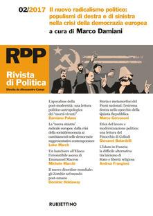 Luciocorsi.it Rivista di politica (2017). Vol. 2: nuovo radicalismo politico: populismi di destra e di sinistra nella crisi della democrazia europea, Il. Image