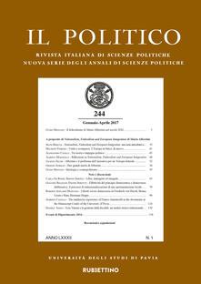 Il politico. Rivista italiana di scienze politiche (2017). Vol. 1