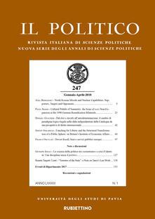Il politico. Rivista italiana di scienze politiche (2018). Vol. 1: Gennaio-aprile..pdf