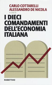 Antondemarirreguera.es I dieci comandamenti dell'economia italiana Image