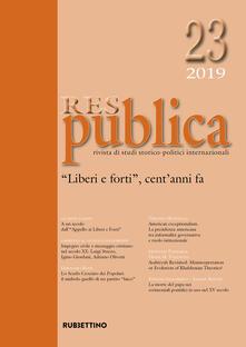 Listadelpopolo.it Res publica (2019). Vol. 23: «Liberi e forti», cent'anni fa. Image