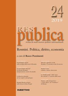Res publica (2019). Vol. 24: Rosmini. Politica, diritto, economia..pdf