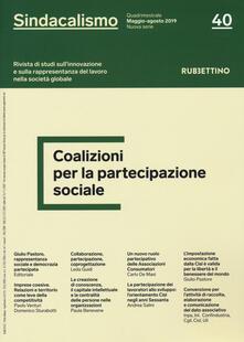 Tegliowinterrun.it Sindacalismo. Rivista di studi sull'innovazione e sulla rappresentanza del lavoro nella società globale (2019). Vol. 40 Image