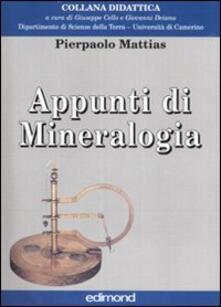 Voluntariadobaleares2014.es Appunti di mineralogia. Ediz. illustrata Image