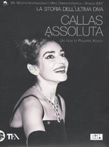 Callas assoluta. La storia dell'ultima diva. DVD - copertina