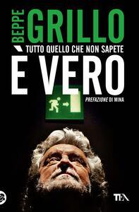Tutto quello che non sapete è vero - Beppe Grillo - copertina