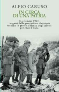 In cerca di una patria - Alfio Caruso - copertina