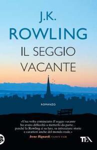 Il seggio vacante - J. K. Rowling - copertina