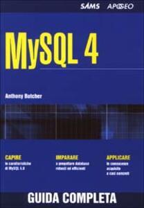 MySQL 4 - Anthony Butcher - copertina