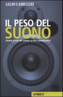 Il peso del suono. Forme d'uso del sonoro ai fini comunicativi - Lelio Camilleri - copertina