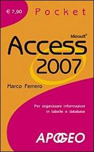 Libro Access 2007 Marco Ferrero