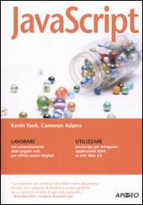 JavaScript - Kevin Yank,Cameron Adams - copertina