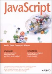 JavaScript - Kevin Yank,Cameron Adams - copertina