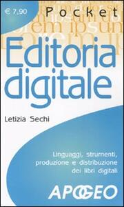 Editoria digitale - Letizia Sechi - copertina