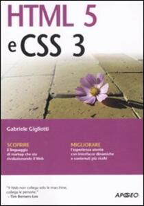 HTML 5 e CSS 3 - Gabriele Gigliotti - copertina