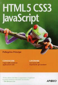 HTML5 CSS3 JavaScript - Pellegrino Principe - copertina