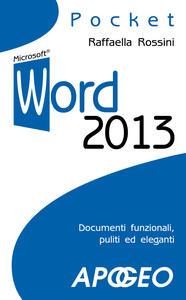 Word 2013 - Raffaella Rossini - copertina