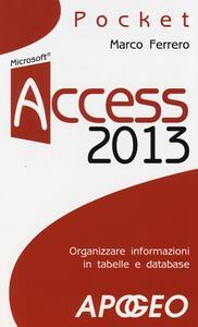 Access 2013 - Marco Ferrero - copertina