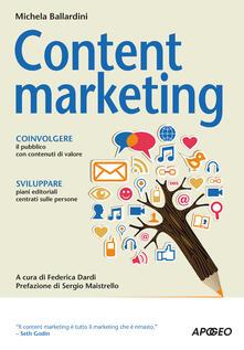 Content marketing - Michela Ballardini - copertina