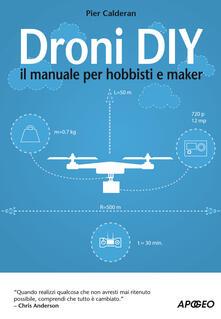Mercatinidinataletorino.it Droni DIY. Il manuale per hobbisti e maker Image