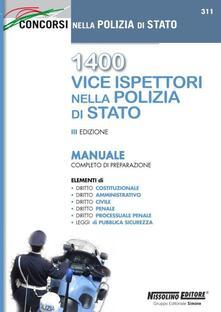 1400 vice ispettori nella polizia di Stato. Manuale completo di preparazione.pdf