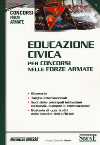 Educazione civica per concorsi nelle forze armate - copertina