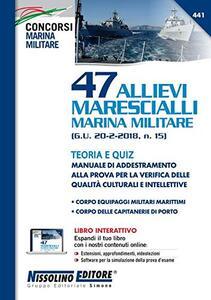 47 allievi marescialli marina militare-teoria e quiz - copertina