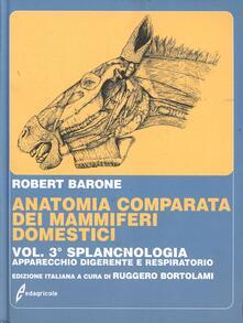 Vitalitart.it Anatomia comparata dei mammiferi domestici. Vol. 3: Splancnologia: apparecchio digerente, apparecchio respiratorio. Image