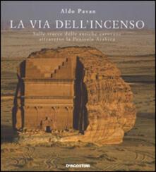 La via dell'incenso. Sulle tracce delle antiche carovane attraverso la Penisola Arabica. Ediz. illustrata - Aldo Pavan - copertina