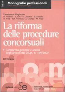 La riforma delle procedure concorsuali