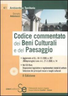 Capturtokyoedition.it Codice commentato dei beni culturali e del paesaggio. Con CD-ROM Image