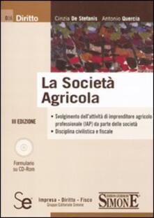Cefalufilmfestival.it La società agricola. Con CD-ROM Image