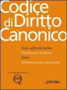 Codice di diritto canonico. Testo latino a fronte