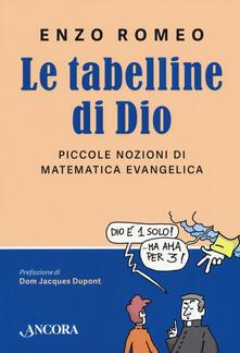 Listadelpopolo.it Le tabelline di Dio. Piccole nozioni di matematica evangelica Image