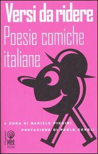 Foto Cover di Versi da ridere. Poesie comiche italiane, Libro di  edito da Net