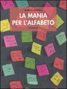 La mania per l'alfabeto - Marco Candida - copertina