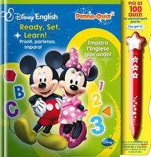 Secchiarapita.it Ready, set, learn!-Pronti, partenza, impara! Penna-quiz. Ediz. bilingue. Con gadget Image