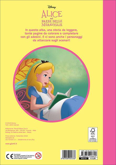 Alice Nel Paese Delle Meraviglie Staccattacca E Colora Con Adesivi
