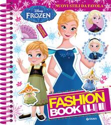Osteriacasadimare.it Fashion book. Nuovi stili da favola. Frozen. Con adesivi. Ediz. a colori. Ediz. a spirale Image