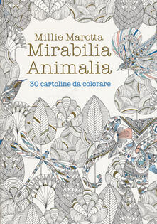 Osteriamondodoroverona.it Mirabilia animalia. 30 cartoline da colorare Image